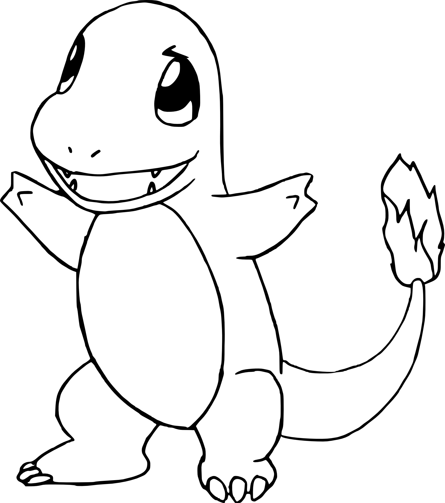 Coloriage Salam¨che Pokemon