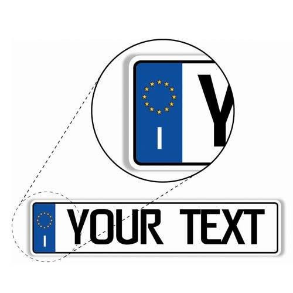 Italian License Plate