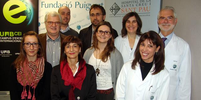 Los responsables del programa de reproducción asistida de Puigvert -Sant Pau tras la rueda de prensa.   F. Puigvert