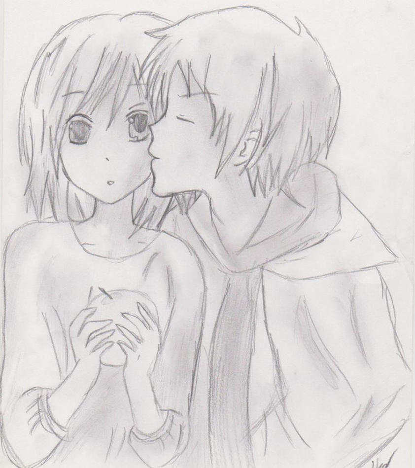 Cute anime couple by zeldaskywordsword on deviantart