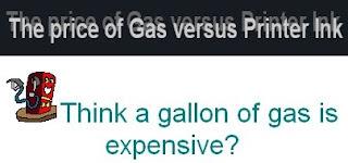 The price of Gas verses Printer Ink