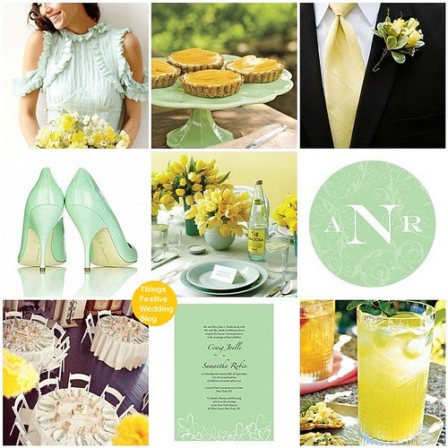 Mint And Yellow Spring Wedding Theme