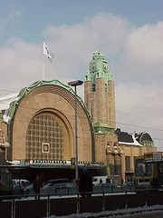 Art Deco Buildings Central Railway Station Helsinki