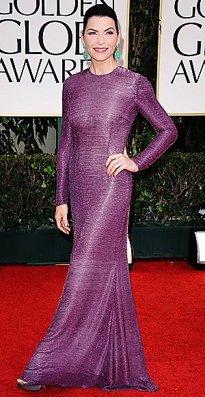 Julianna Margulies - Golden Globes dress - The Good Wife