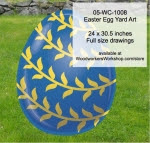 Easter Egg Yard Art Woodworking Pattern - fee plans from WoodworkersWorkshop® Online Store - gold,easter eggs,yard art,painting wood crafts,scrollsawing patterns,drawings,plywood,plywoodworking plans,woodworkers projects,workshop blueprints