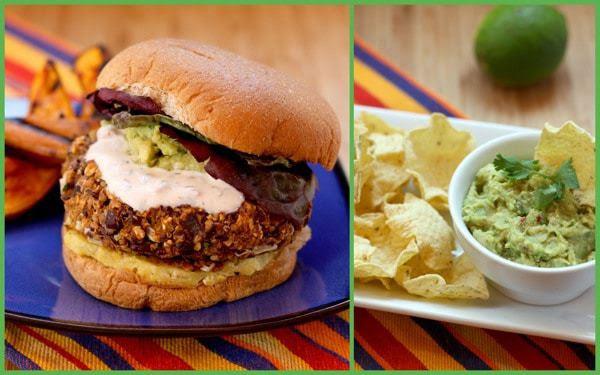 Mexican Black Bean & Quinoa Burgers with Homemade Guacamole   cupcakesandkalechips.com #vegetarian #quinoa