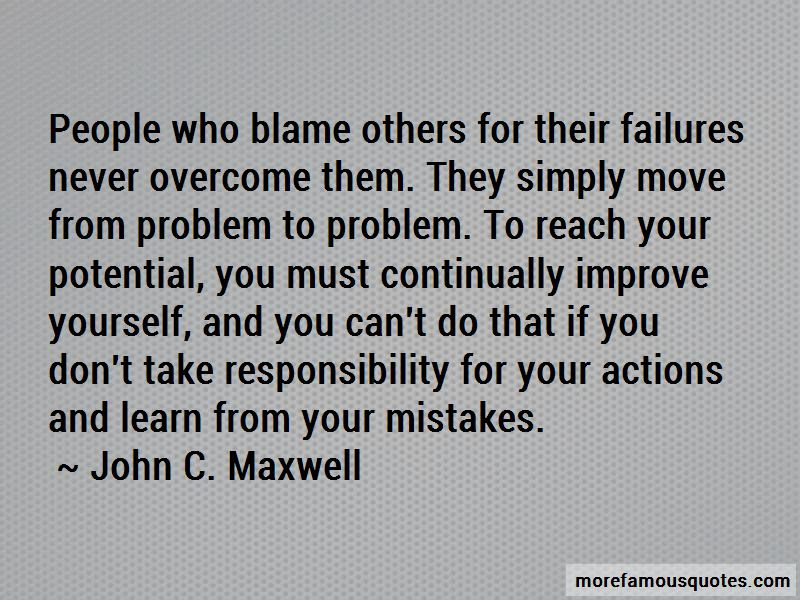 Take Responsibility For Your Mistakes Quotes Top 2 Quotes About