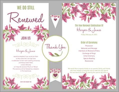 Free Vow Renewal Invitation Suite   Purple Floral Design