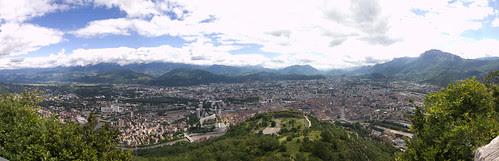 Panoramique depuis les premiers vestiges