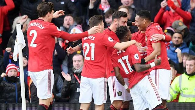 MANCHESTER UNITED 2 – 0 MANCHESTER CITY [PREMIER LEAGUE] HIGHLIGHTS 2019/20