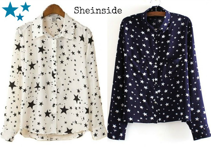 camisa estrellas sheinside