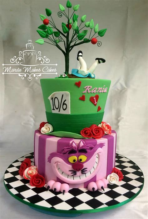 Alice in Wonderland: Chesire,Sombrerero, Alicia Cake   Tea