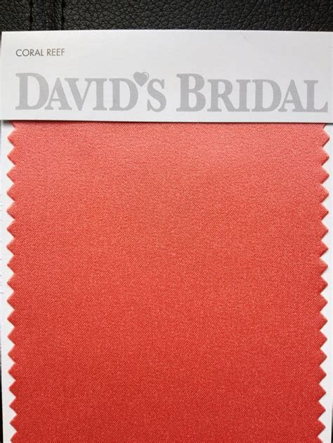 Coral Reef color swatch   David's Bridal   Glam Squad