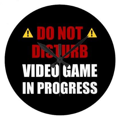 Do Not Disturb Video Game Large Clock