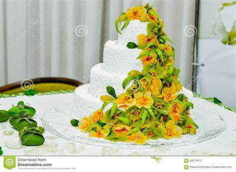 Wedding Cake Decorated Fruit Stock Photo   Image: 66677813