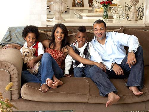 Toni Braxton e sua família