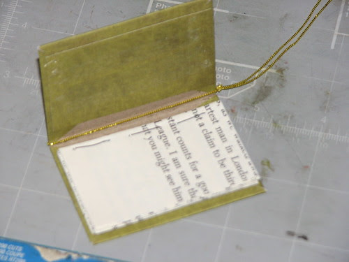 Mini Book Ornament 008