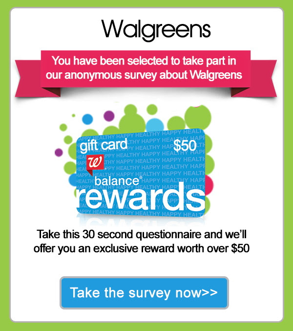 Take this 30 second questionnaire and we'll offer you an exclusive reward worth over $50.