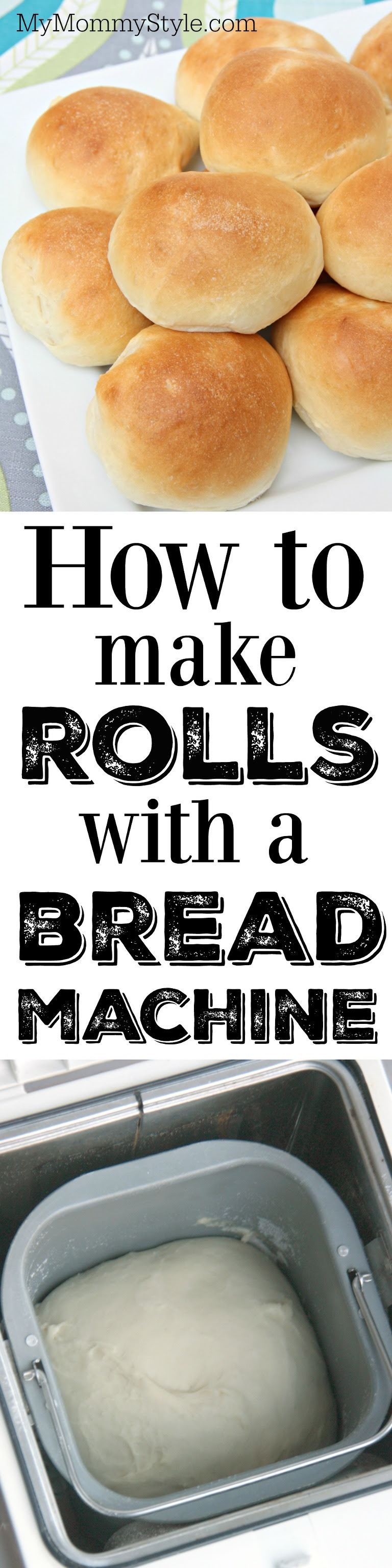 How to make amazing dinner rolls and bread with a bread ...