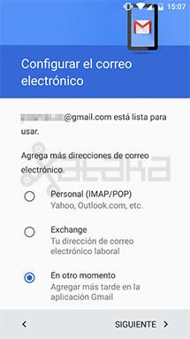 Configurar correo