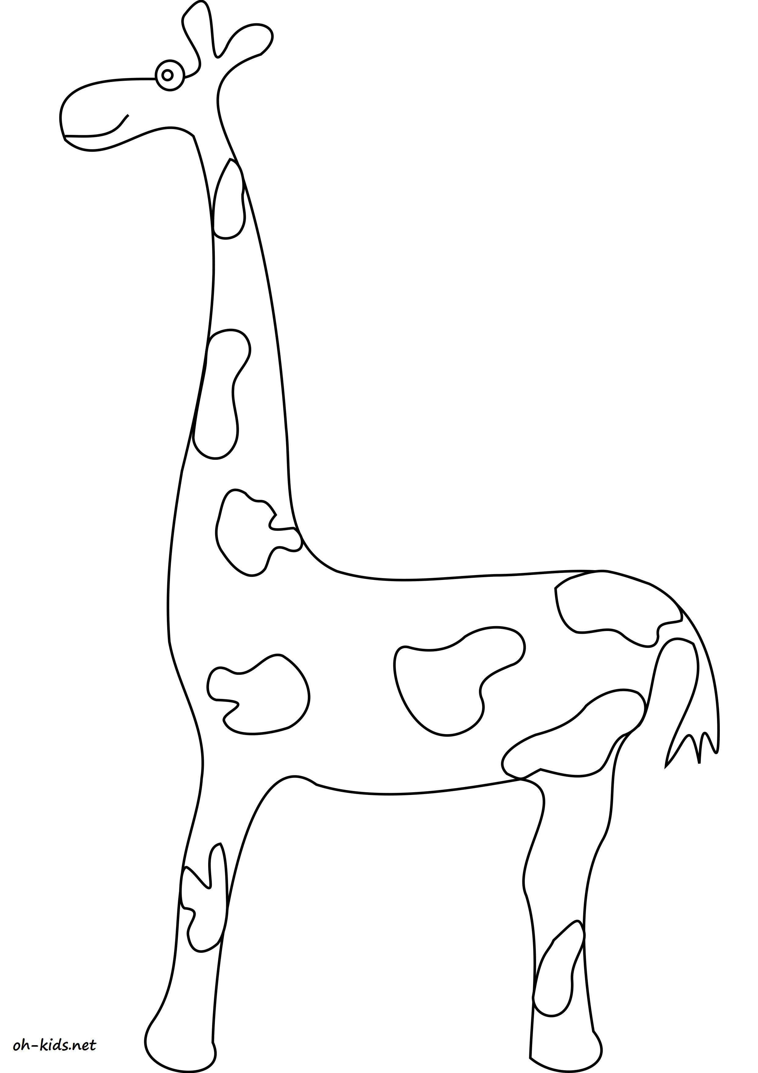 Coloriage girafe a imprimer Dessin 1584