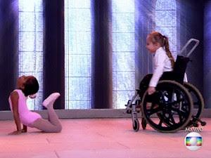 Crianças dançam no Encontro (Foto: TV Globo)