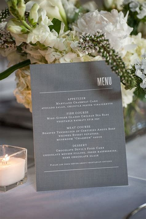 25  best ideas about Wedding Menu Cards on Pinterest