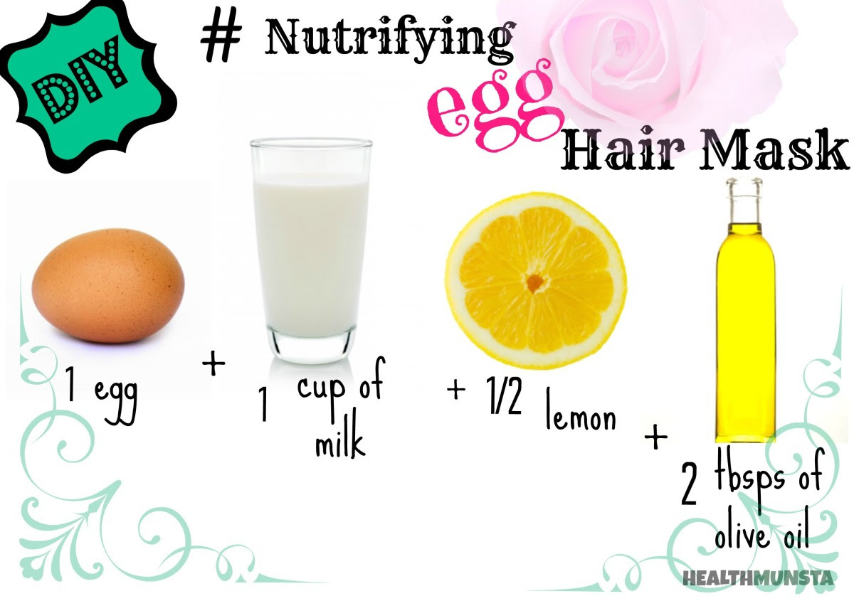 The egg hair mask will soften your hair and add a lustrous shine.