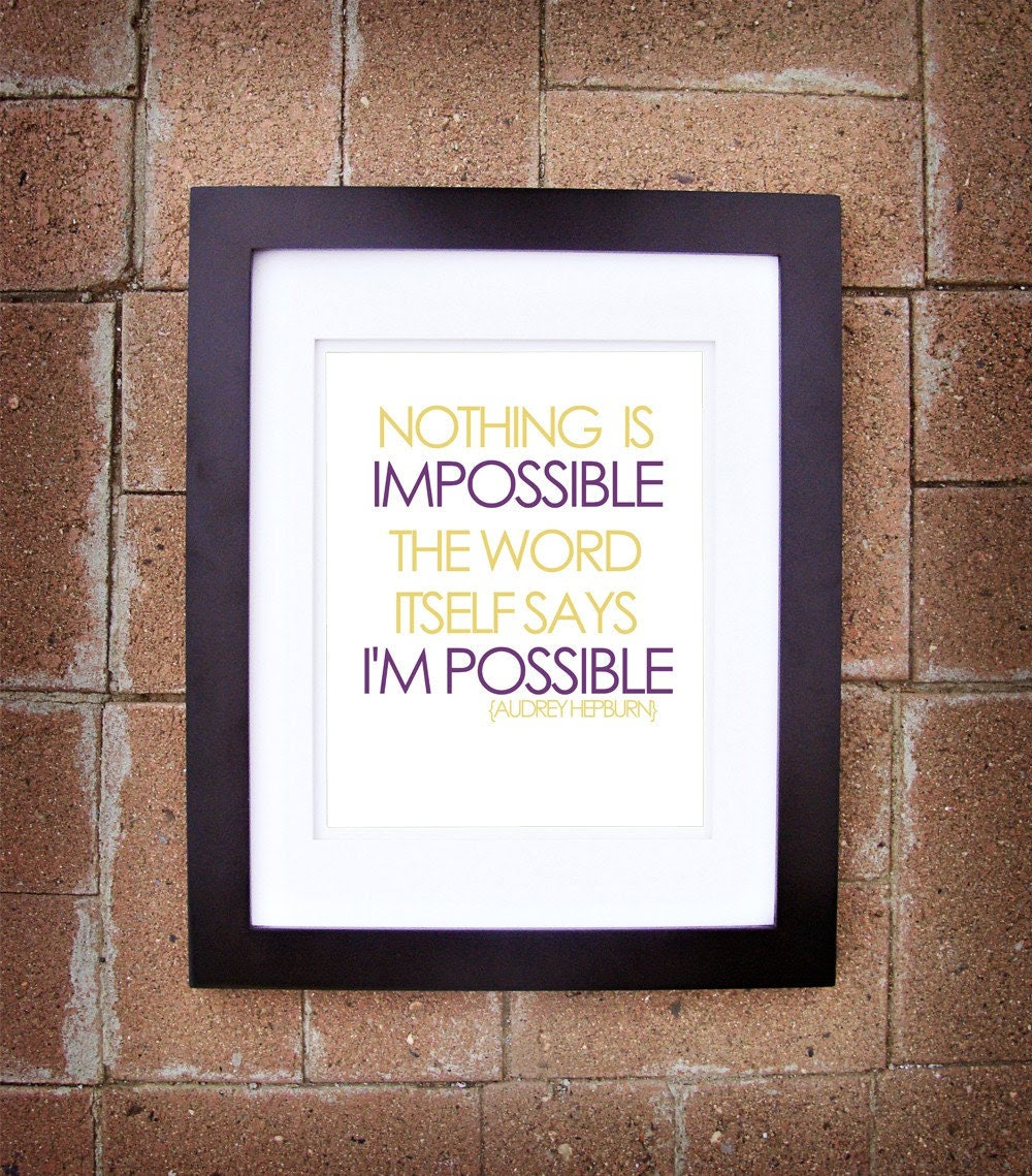 Nothing is Impossible - 8x10 Printable Art
