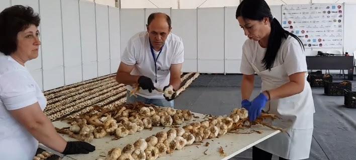 Νέo, αλλιώτικο ρεκόρ Γκίνες στην Ορεστιάδα -Για τη μεγαλύτερη πλεξούδα σκόρδων στον κόσμο [βίντεο]