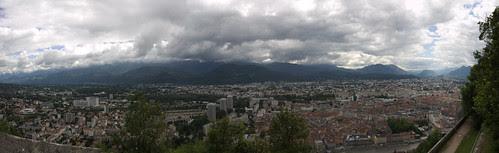 Panoramique depuis le mont Jalla