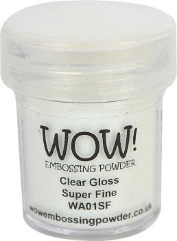 WOW Embossing Powder CLEAR GLOSS SUPER FINE WA01SF