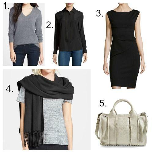 Halogen Cashmere Sweater - MICHAEL Michael Kors Blouse - Diane von Furstenberg Dress - Nordstrom Cashmere Wrap - Alexander Wang Handbag