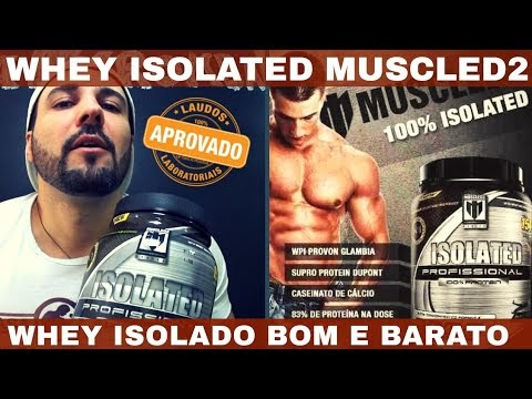 WHEY ISOLATED MUSCLED2 O Whey Protein Isolado Bom e Barato da MuscleD2