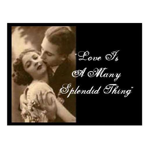 """Love Is A Thing Πολλοί Splendid"" Postcard"