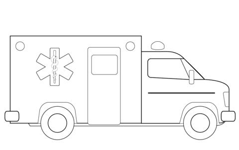 Coloriage Camion Ambulance Coloriages à Imprimer Gratuits