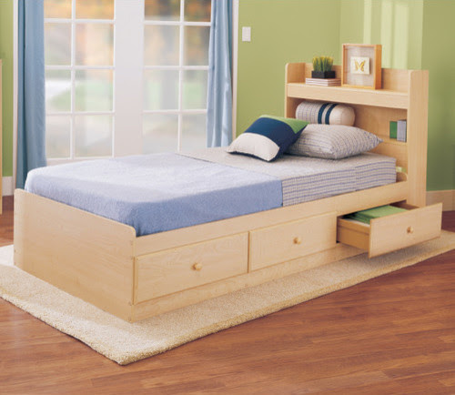 My Space, My Place Storage Twin Bed in Maple - Modern - Kids Beds ...
