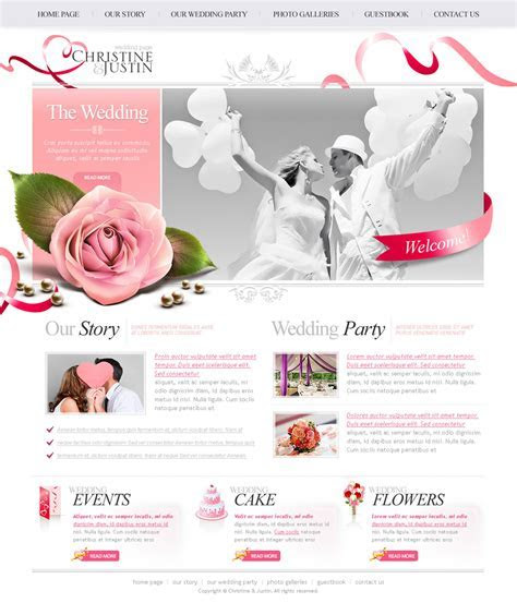 The Wedding PSD Website Free Template   Download PSD