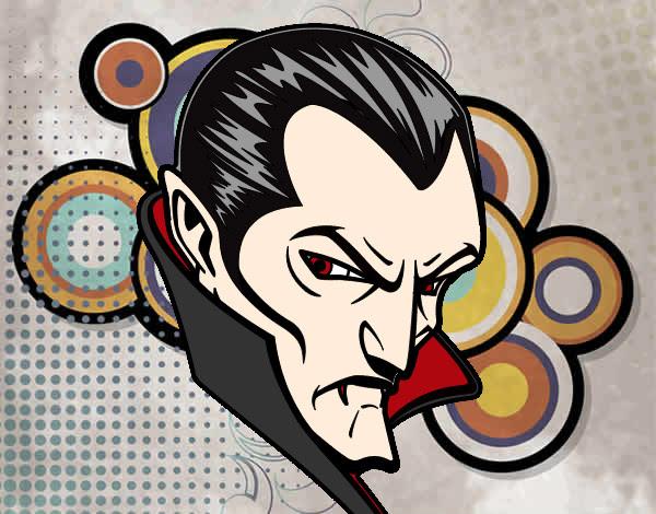 Dibujo De Perfil De Drácula Pintado Por Lobo Turro En Dibujosnet El