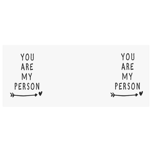 Interestprint You Are My Person Quotes White Ceramic Heart Shaped