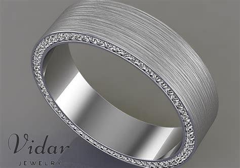 Comfort Fit Diamond Mens Wedding Band.   Vidar Jewelry