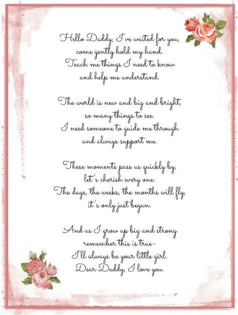 a Daddy Daughter poem   darling words for life   Pinterest