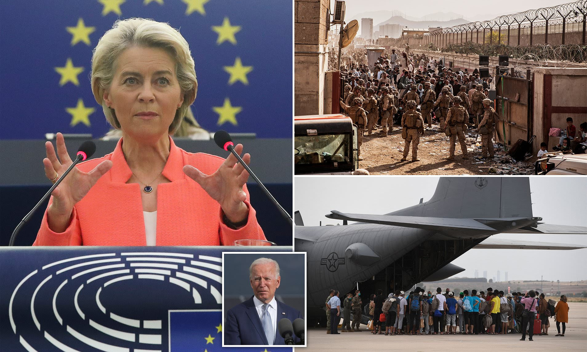 The EU should build its own military after being abandoned by US in Afghanistan says EU President