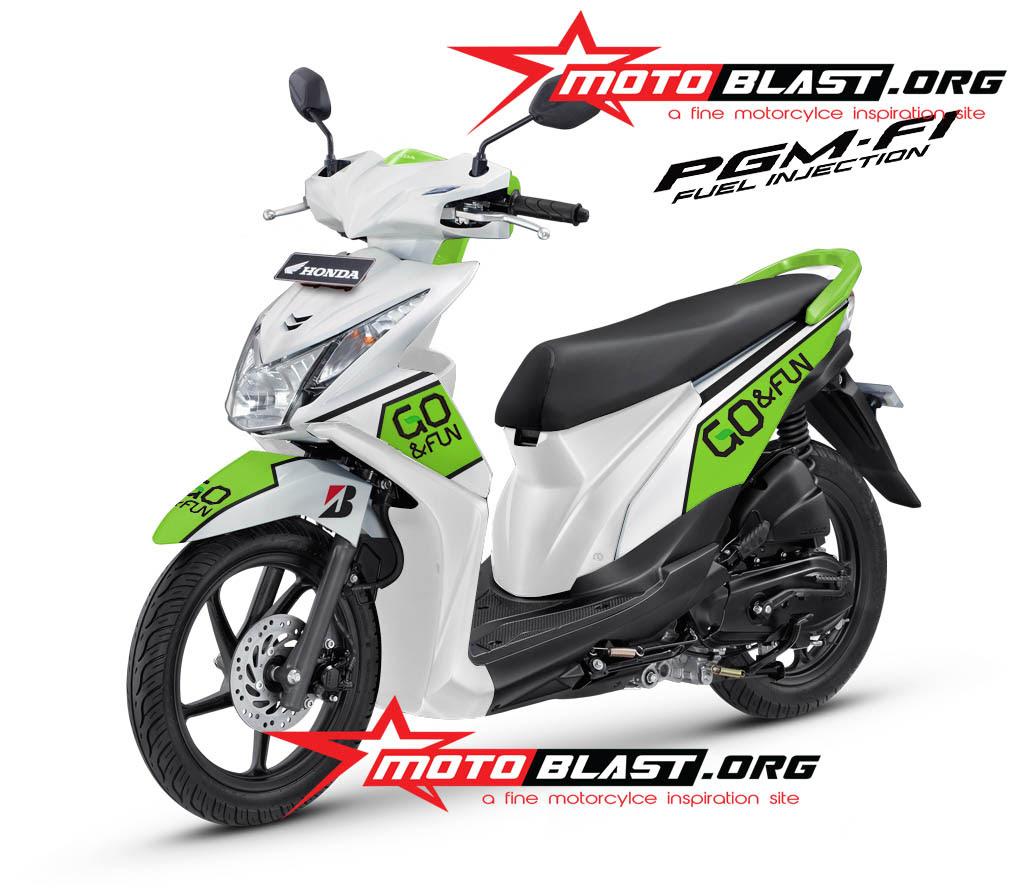 105 Modifikasi Motor Honda Beat Hijau Putih Modifikasi Motor Beat