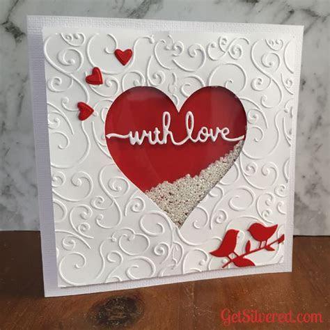 Shaker Heart Valentine Card   Cards   Diy valentines cards
