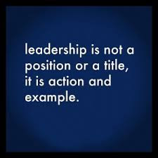 Leadership is example