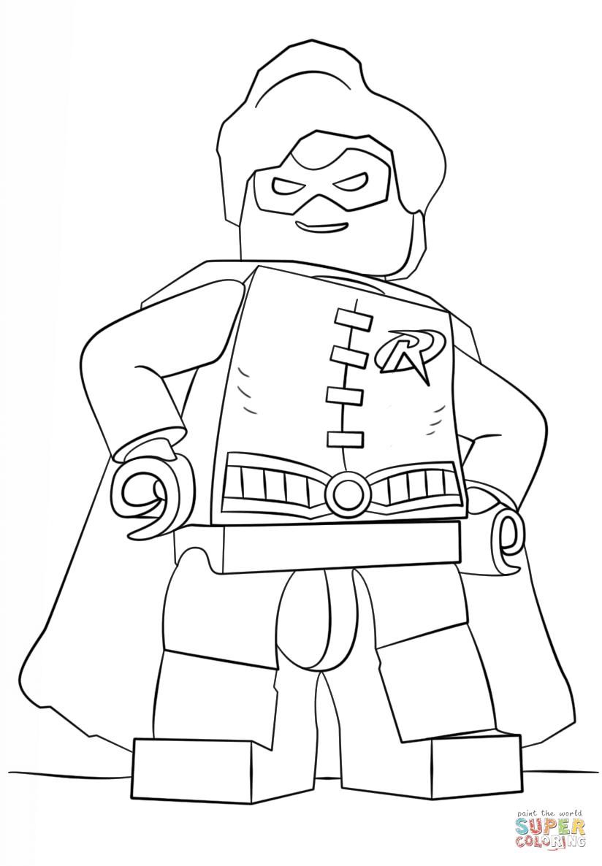 Dibujo De Robin De Lego Para Colorear Dibujos Para Colorear