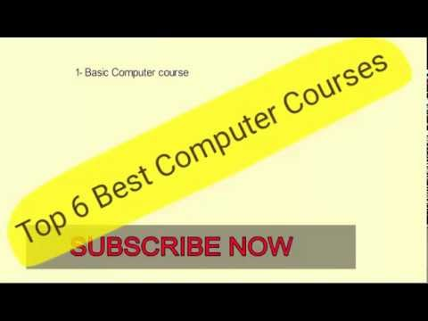 TOP 6 BEST COMPUTER COURSE :MOST IMPORTANT COMPUTER COURSE