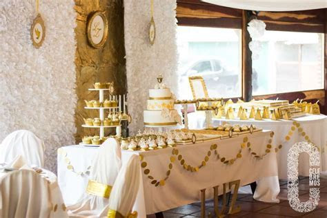Gold First Communion Party Ideas   Photo 2 of 28   Catch
