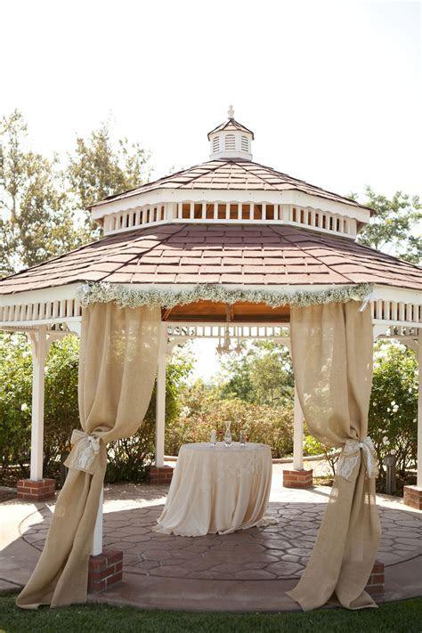 Nice  a casual #gazebo wedding ceremony awaits